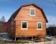 Дом из бруса 6х8 под ключ, 2 этажа, крыша ломаная