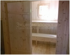 Баня 6х6 под ключ вид моечной и парной