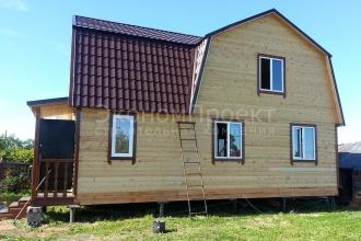 Дом из бруса 6х9 с тремя фронтонами