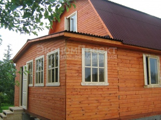 дачный дом 6х6 с верандой