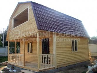 Дом из бруса 6х7,5 вид сбоку