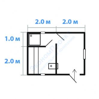 планировка бани 3х3 под ключ