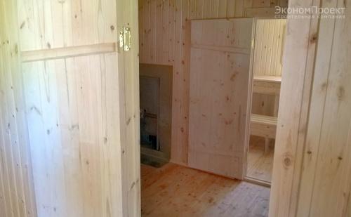 фото внутри бани из бруса под ключ