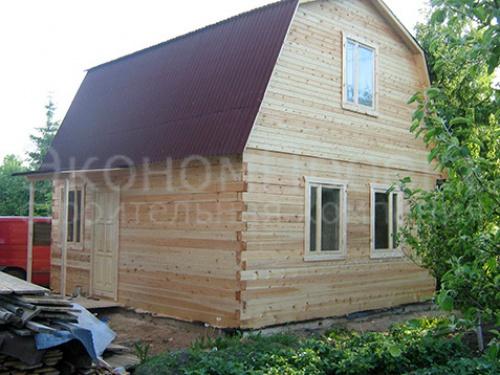 Дом из бруса 9х9 под ключ, с верандой 2 этажа, крыша двускатная